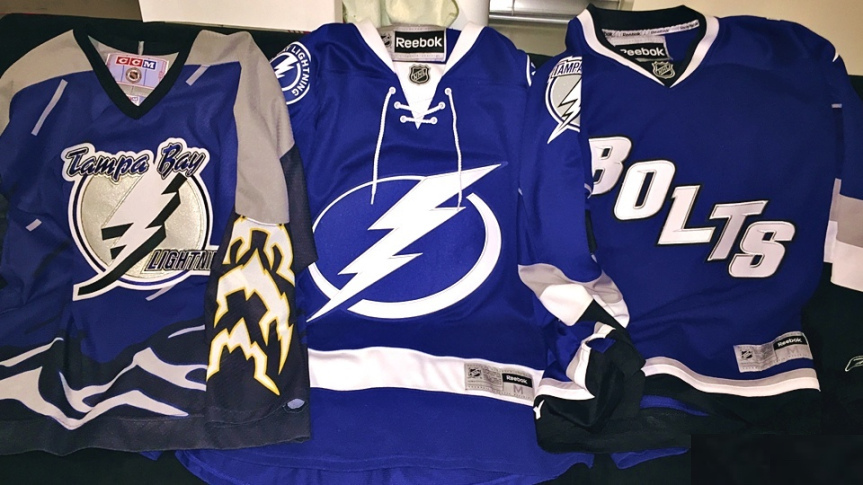 Worst to First: Tampa Bay Lightning Jerseys