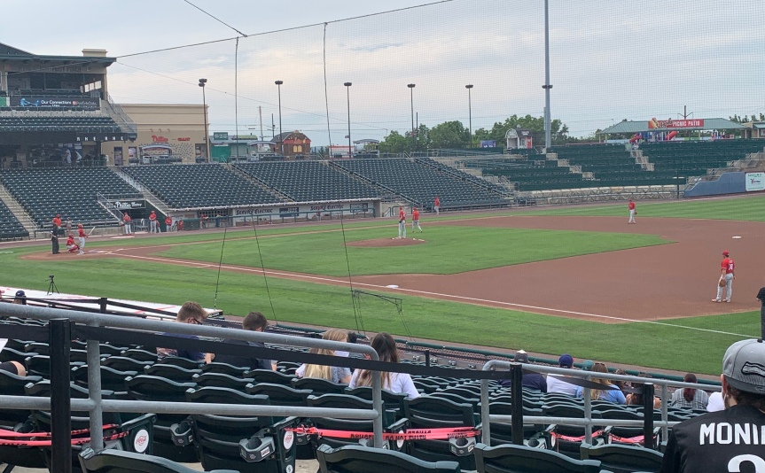 Observations From a Socially-Distanced BaseballGame